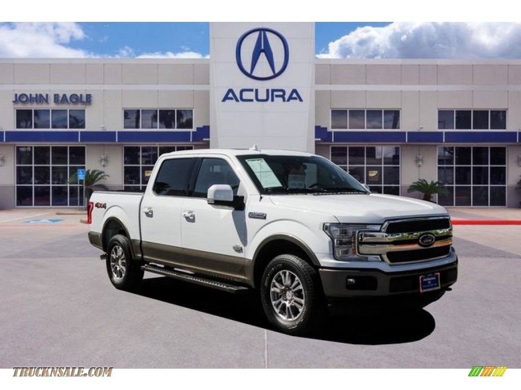 2018 F150 King Ranch SuperCrew 4x4 - White Gold / Dark Marsala photo #1