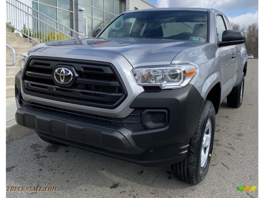 Silver Sky Metallic / Cement Gray Toyota Tacoma SR Access Cab 4x4