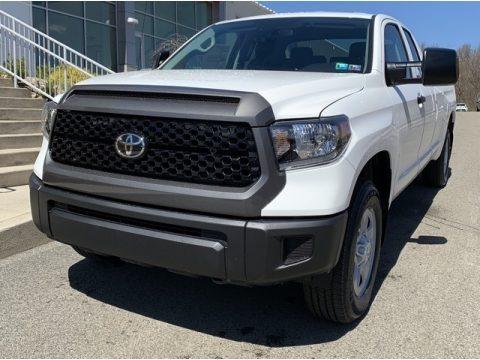 Super White 2019 Toyota Tundra SR Double Cab 4x4