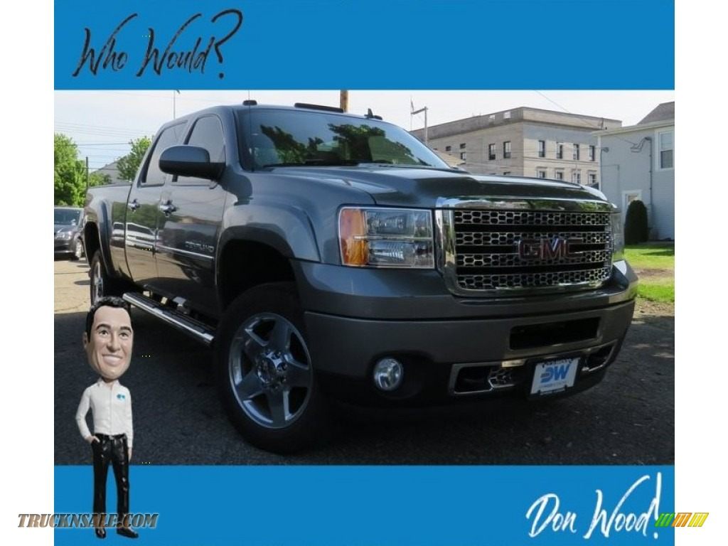 2013 Sierra 2500HD Denali Crew Cab 4x4 - Steel Gray Metallic / Ebony photo #1