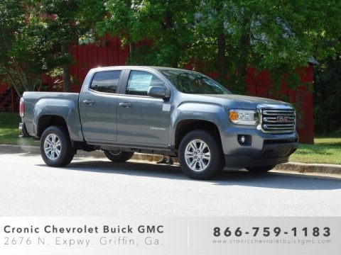Satin Steel Metallic 2019 GMC Canyon SLE Extended Cab