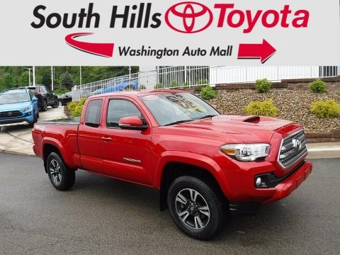 Barcelona Red Metallic 2017 Toyota Tacoma TRD Sport Access Cab 4x4