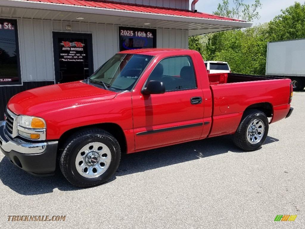 2005 Sierra 1500 Work Truck Regular Cab - Fire Red / Dark Pewter photo #1