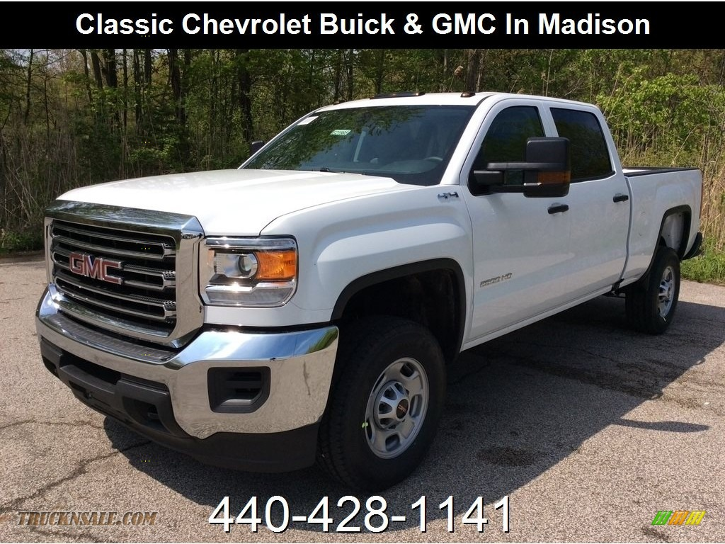 2019 Sierra 2500HD Crew Cab 4WD - Summit White / Jet Black/­Dark Ash photo #1