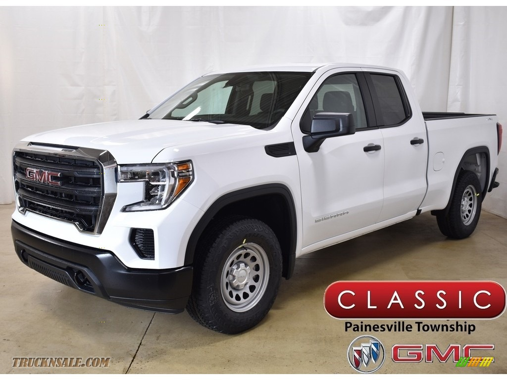 Summit White / Jet Black GMC Sierra 1500 Double Cab 4WD