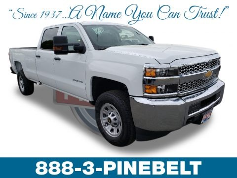 Summit White 2019 Chevrolet Silverado 3500HD Work Truck Crew Cab