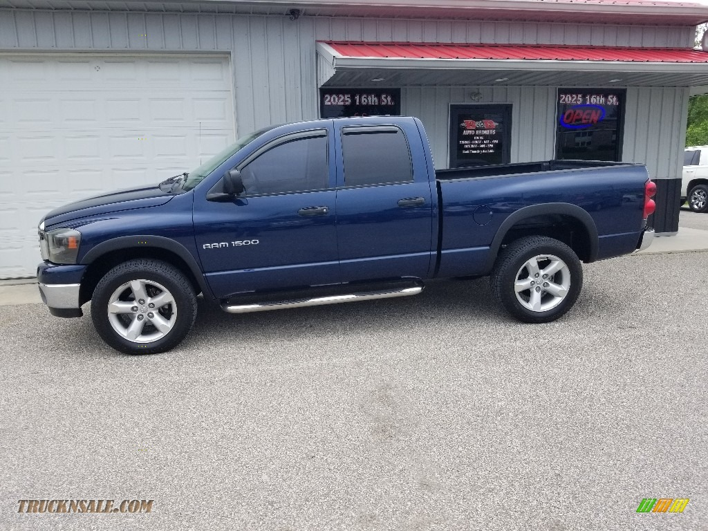 2007 Ram 1500 TRX4 Off Road Regular Cab 4x4 - Electric Blue Pearl / Medium Slate Gray photo #1