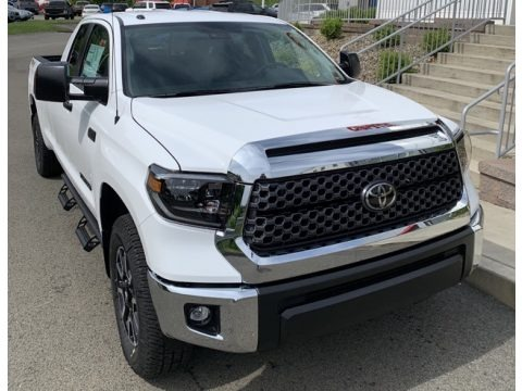 Super White 2019 Toyota Tundra TRD Off Road Double Cab 4x4