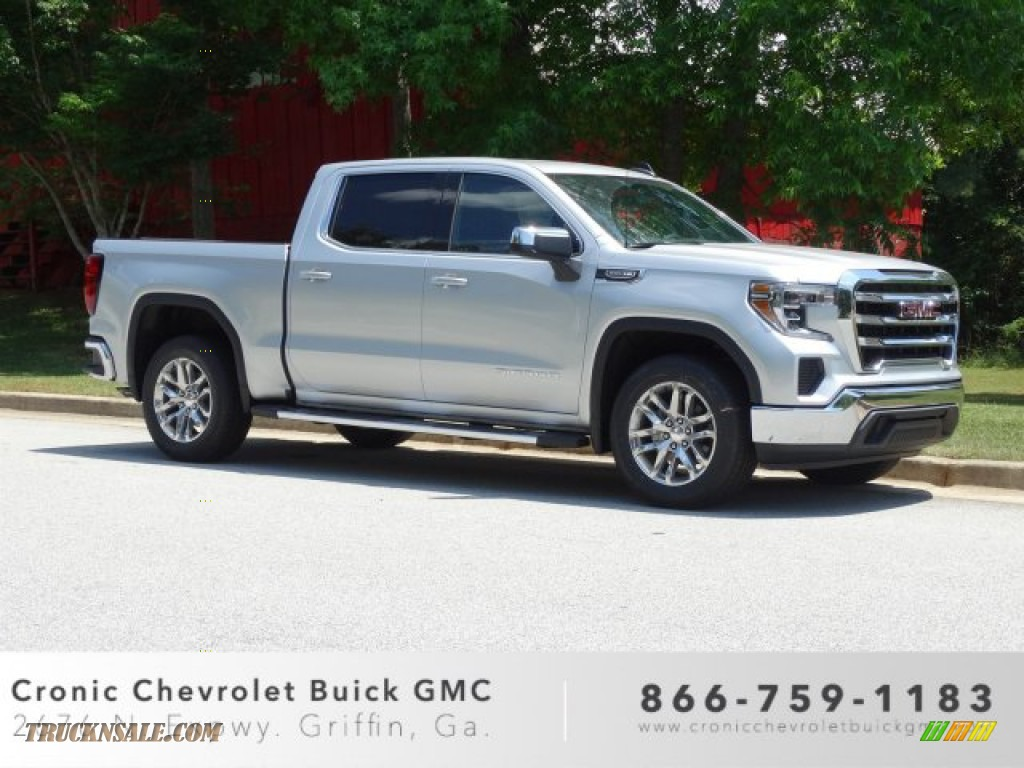 2019 Sierra 1500 SLE Crew Cab - Quicksilver Metallic / Jet Black photo #1