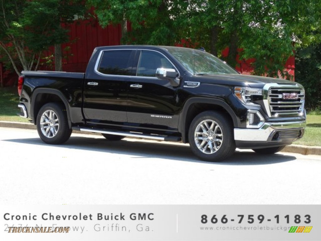 2019 Sierra 1500 SLT Crew Cab - Onyx Black / Jet Black photo #1