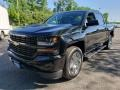 Chevrolet Silverado 1500 Custom Crew Cab 4x4 Black photo #3