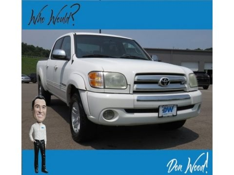 Natural White 2004 Toyota Tundra SR5 Double Cab 4x4