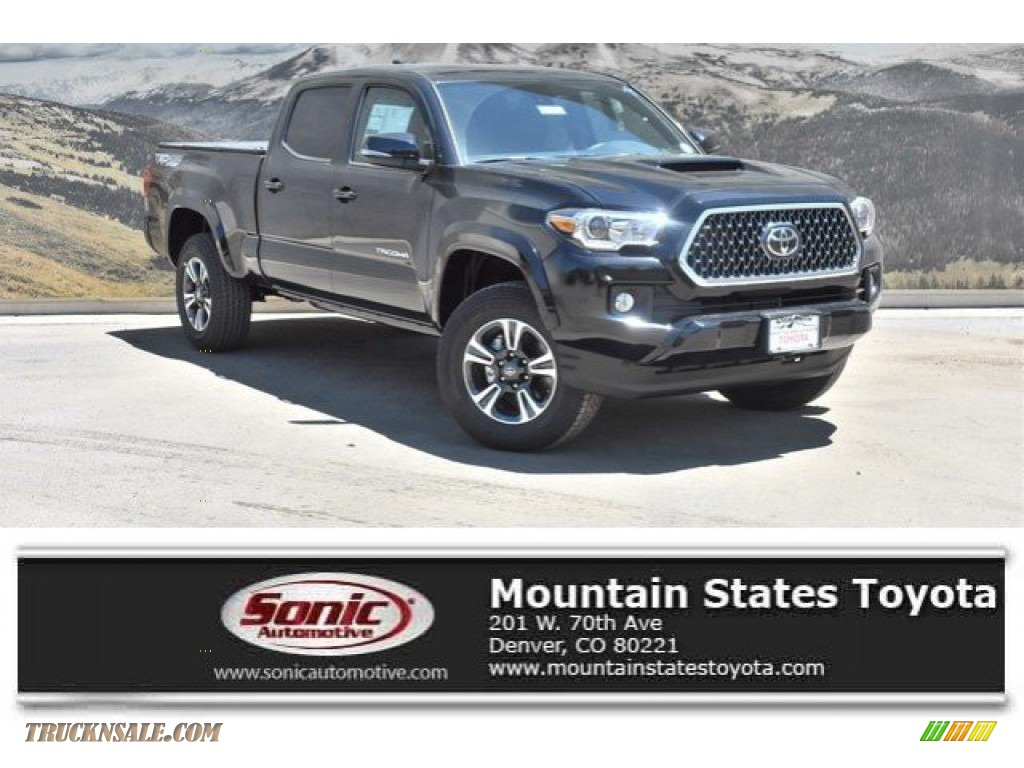 2019 Tacoma TRD Sport Double Cab 4x4 - Midnight Black Metallic / Black photo #1