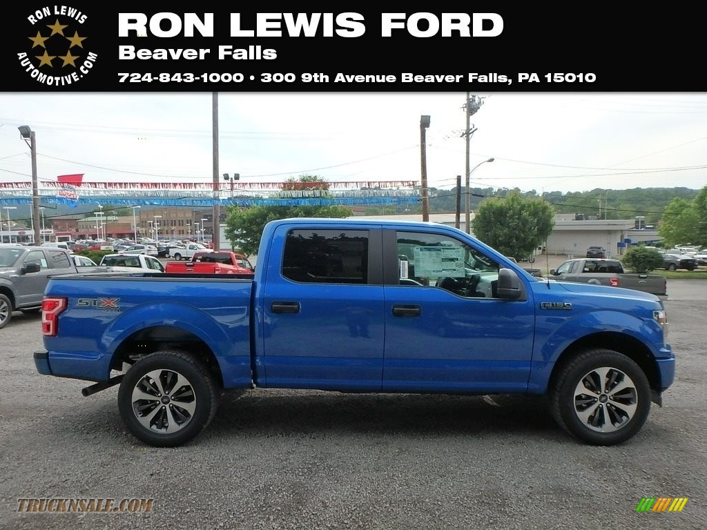 Velocity Blue / Earth Gray Ford F150 STX SuperCrew 4x4