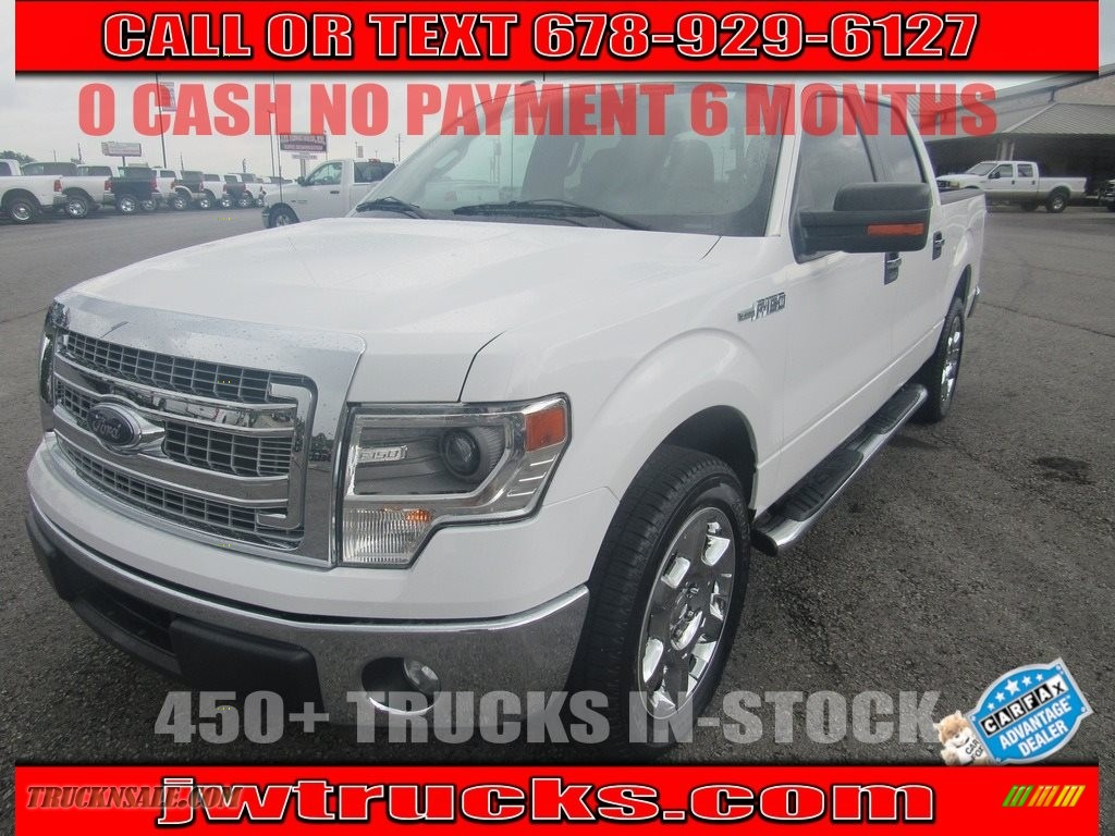 2014 F150 XLT SuperCrew - Oxford White / Steel Grey photo #1