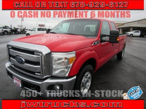 Race Red 2016 Ford F250 Super Duty XLT Crew Cab