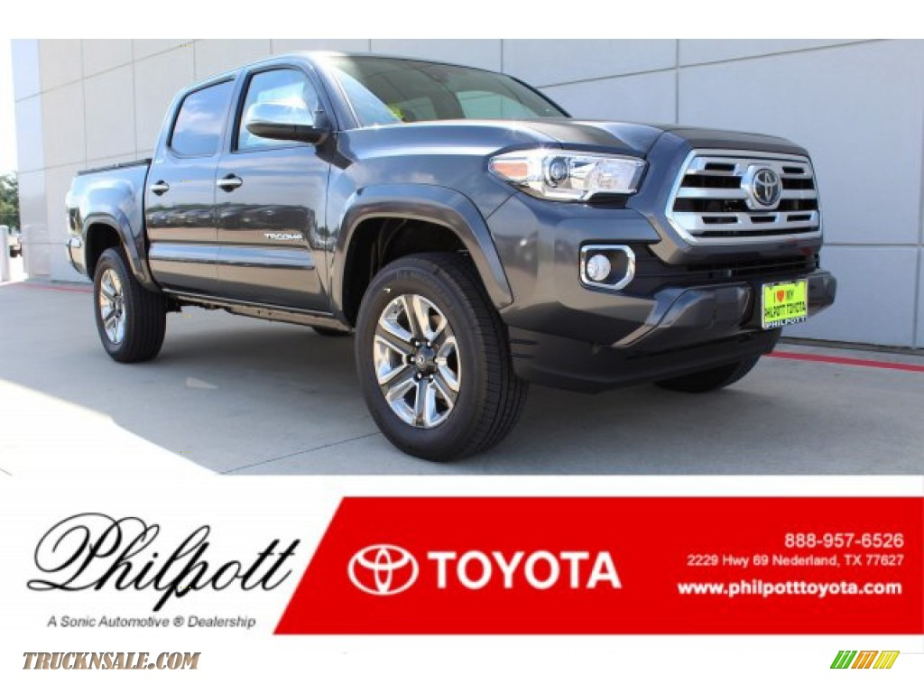 2019 Tacoma Limited Double Cab - Magnetic Gray Metallic / Hickory photo #1