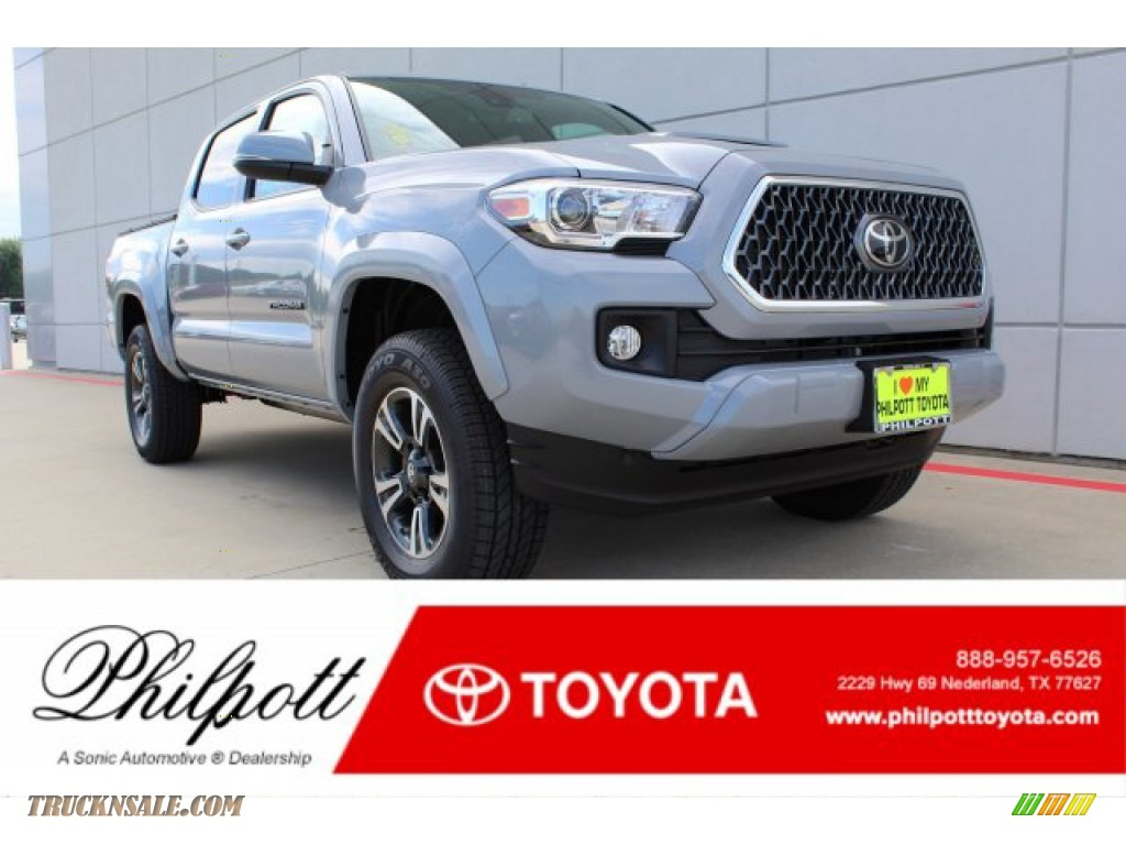 2019 Tacoma TRD Sport Double Cab 4x4 - Cement Gray / TRD Graphite photo #1