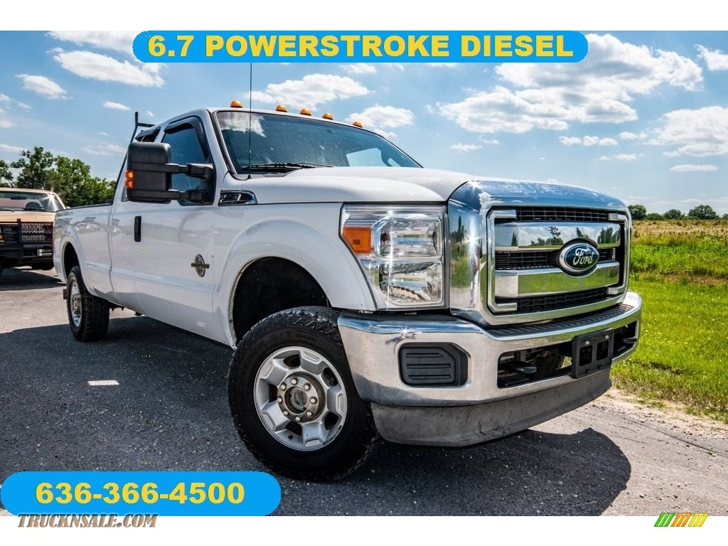 2012 F250 Super Duty XLT SuperCab 4x4 - Oxford White / Steel photo #1