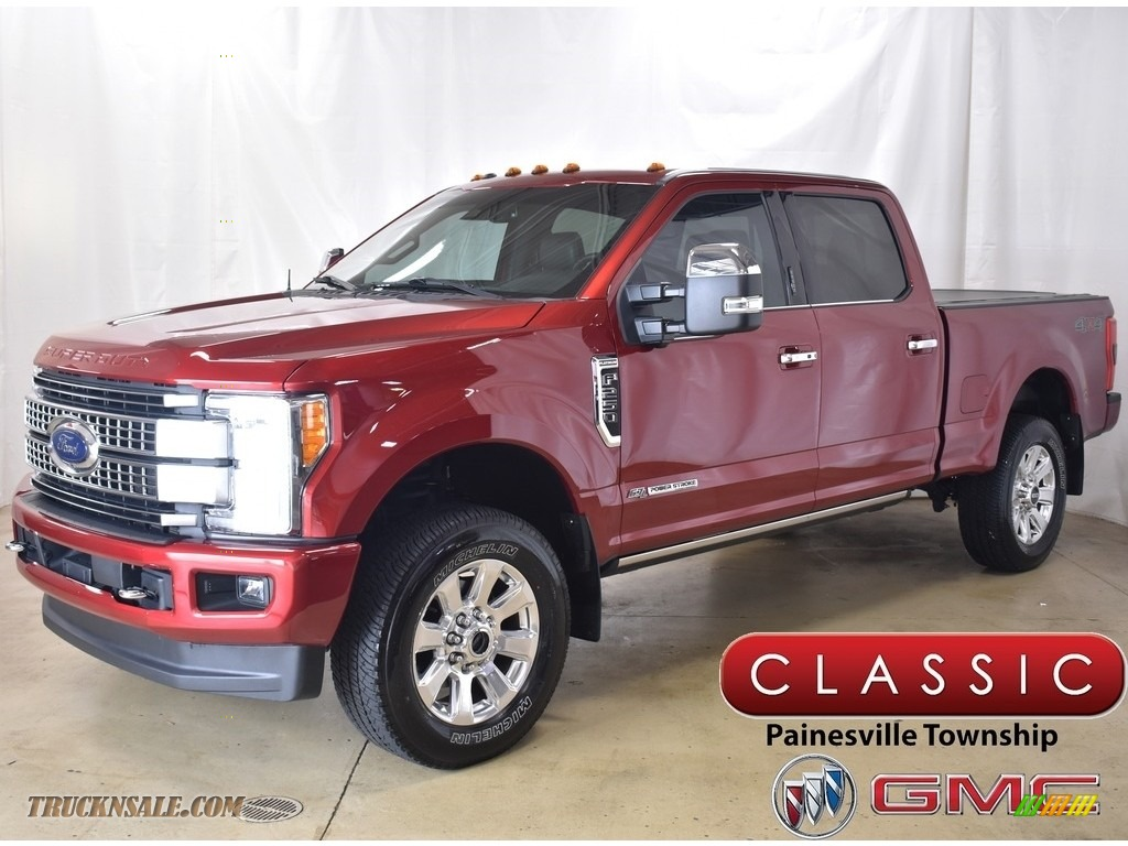 2017 F250 Super Duty Platinum Crew Cab 4x4 - Ruby Red / Black photo #1