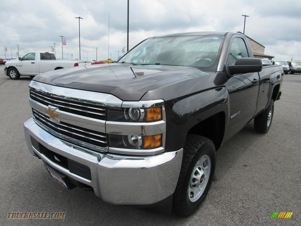 Tungsten Metallic / Jet Black/Dark Ash Chevrolet Silverado 2500HD WT Regular Cab 4x4