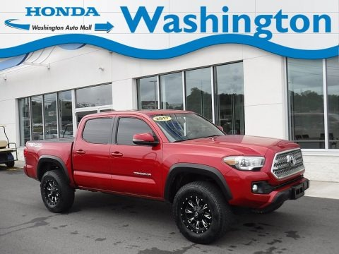 Barcelona Red Metallic 2017 Toyota Tacoma TRD Off Road Double Cab 4x4