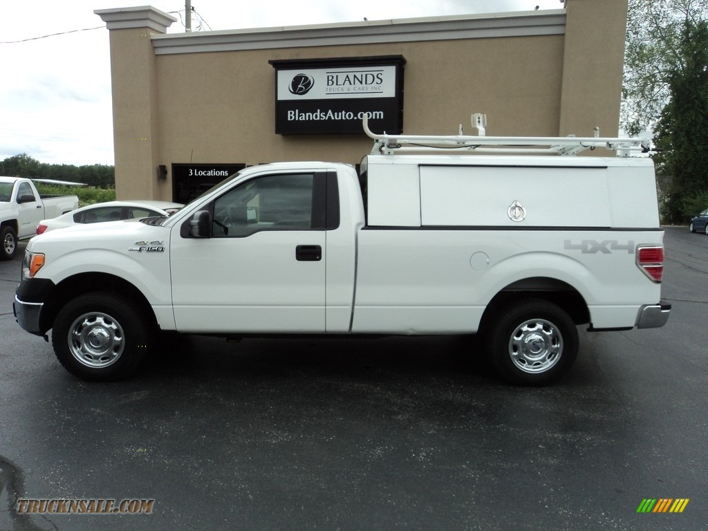 2013 F150 XL Regular Cab 4x4 - Oxford White / Steel Gray photo #1