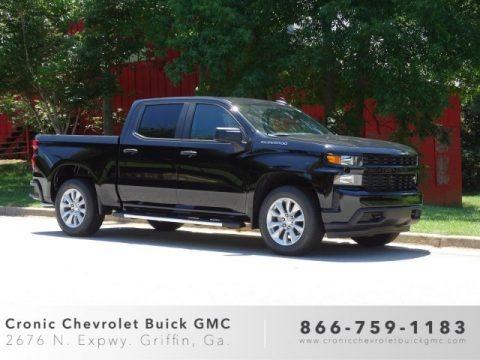 Black 2019 Chevrolet Silverado 1500 Custom Crew Cab