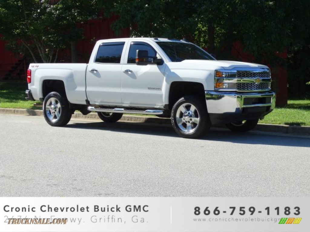 2019 Silverado 2500HD Work Truck Crew Cab 4WD - Summit White / Dark Ash/Jet Black photo #1