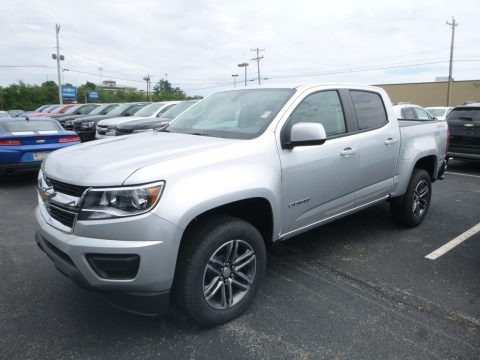 Silver Ice Metallic 2019 Chevrolet Colorado WT Crew Cab 4x4