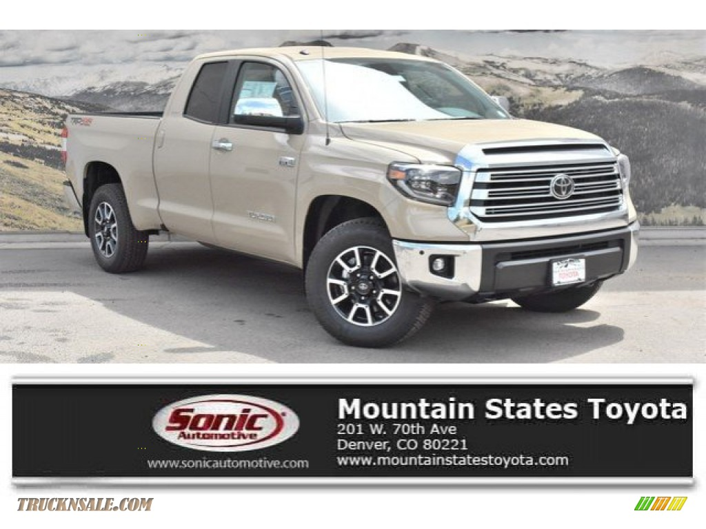 Quicksand / Black Toyota Tundra Limited Double Cab 4x4