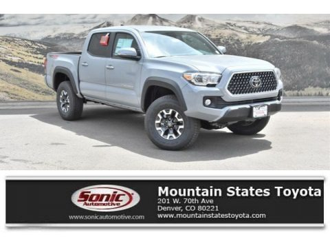 Cement Gray 2019 Toyota Tacoma TRD Off-Road Double Cab 4x4