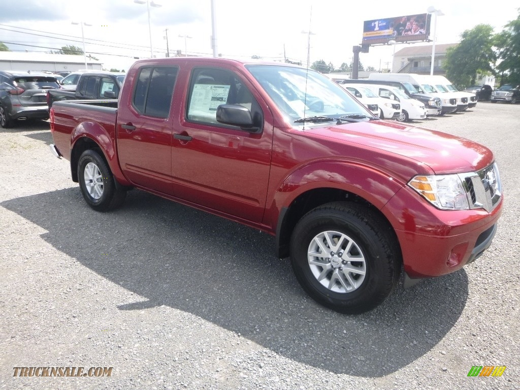 2019 Frontier SV Crew Cab 4x4 - Cayenne Red / Beige photo #1