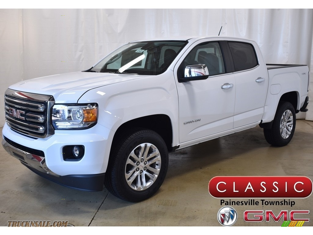 2019 Canyon SLT Crew Cab 4WD - Summit White / Jet Black photo #1