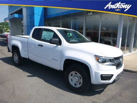 Summit White 2019 Chevrolet Colorado WT Extended Cab 4x4
