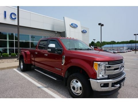 Ruby Red 2017 Ford F350 Super Duty Lariat Crew Cab 4x4
