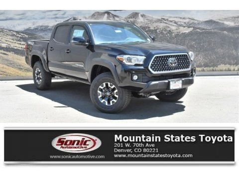 Midnight Black Metallic 2019 Toyota Tacoma TRD Off-Road Double Cab 4x4