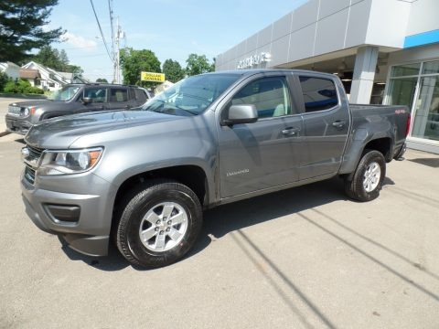 Satin Steel Metallic 2019 Chevrolet Colorado WT Crew Cab 4x4