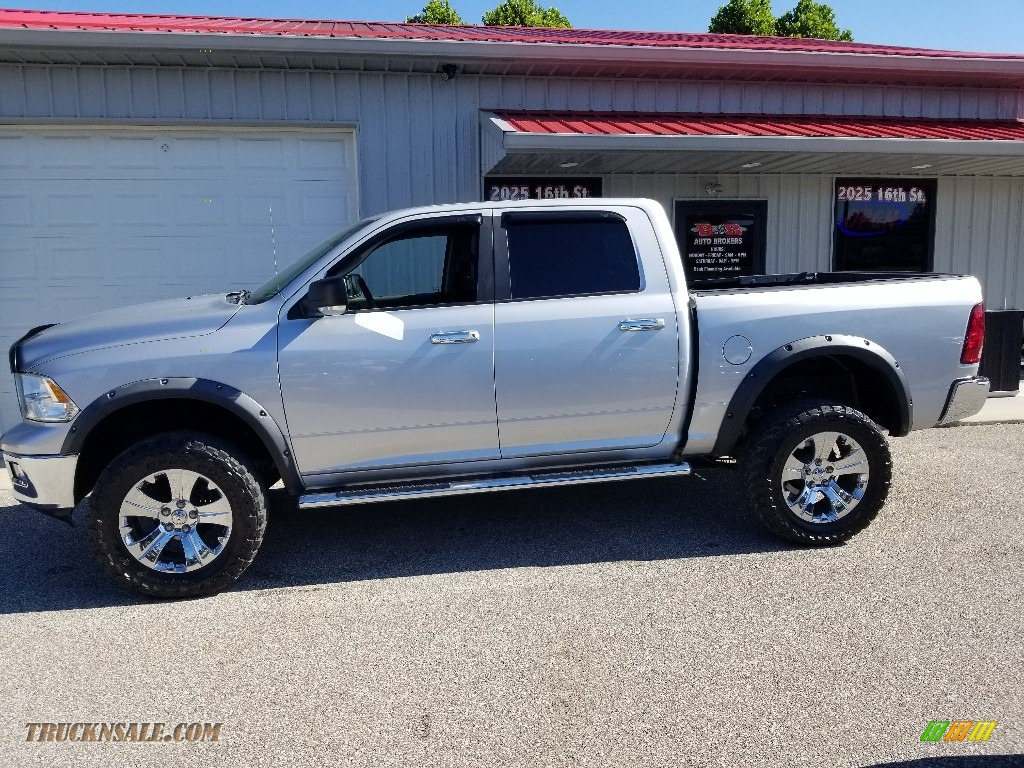Bright Silver Metallic / Dark Slate Gray/Medium Graystone Dodge Ram 1500 SLT Crew Cab 4x4