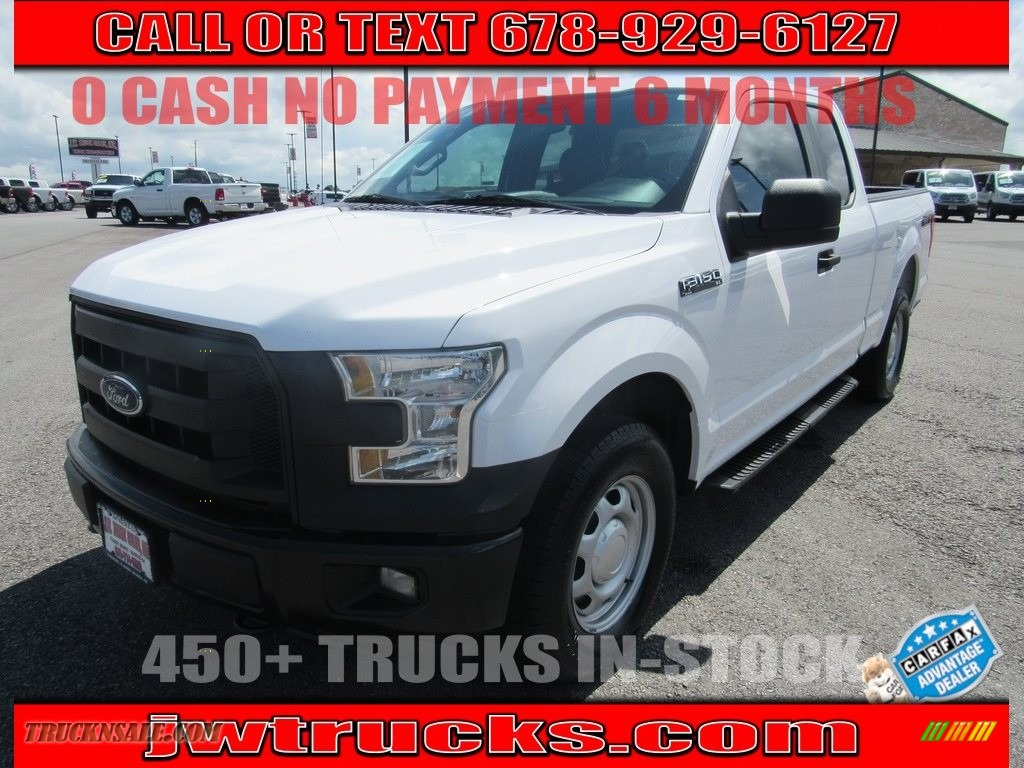 Oxford White / Earth Gray Ford F150 XL SuperCab 4x4