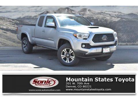 Silver Sky Metallic 2019 Toyota Tacoma TRD Sport Access Cab 4x4