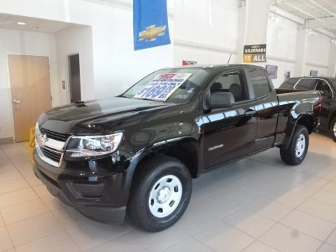 Black 2019 Chevrolet Colorado WT Extended Cab