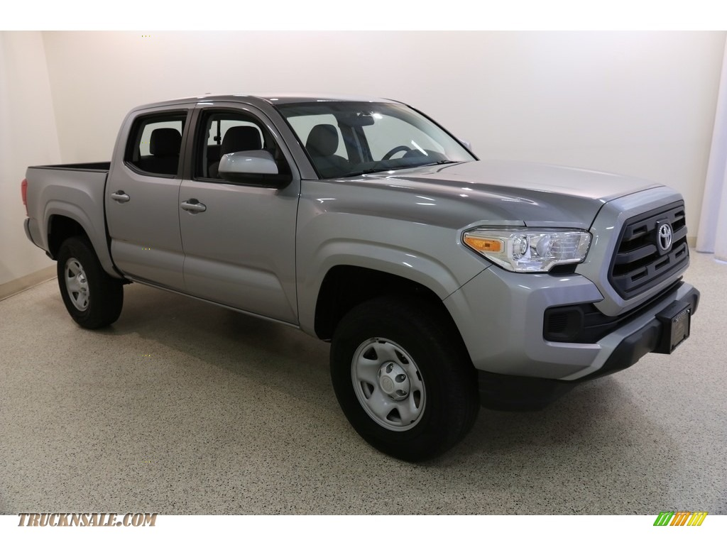 2017 Tacoma SR Double Cab 4x4 - Silver Sky Metallic / Cement Gray photo #1
