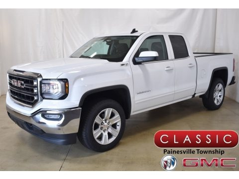 Summit White 2019 GMC Sierra 1500 Limited SLE Double Cab 4WD