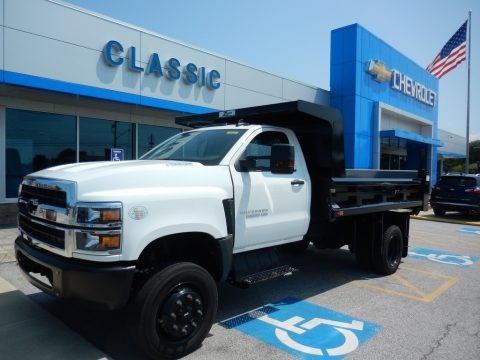 Summit White 2019 Chevrolet Silverado 5500HD Work Truck Regular Cab Dump Truck
