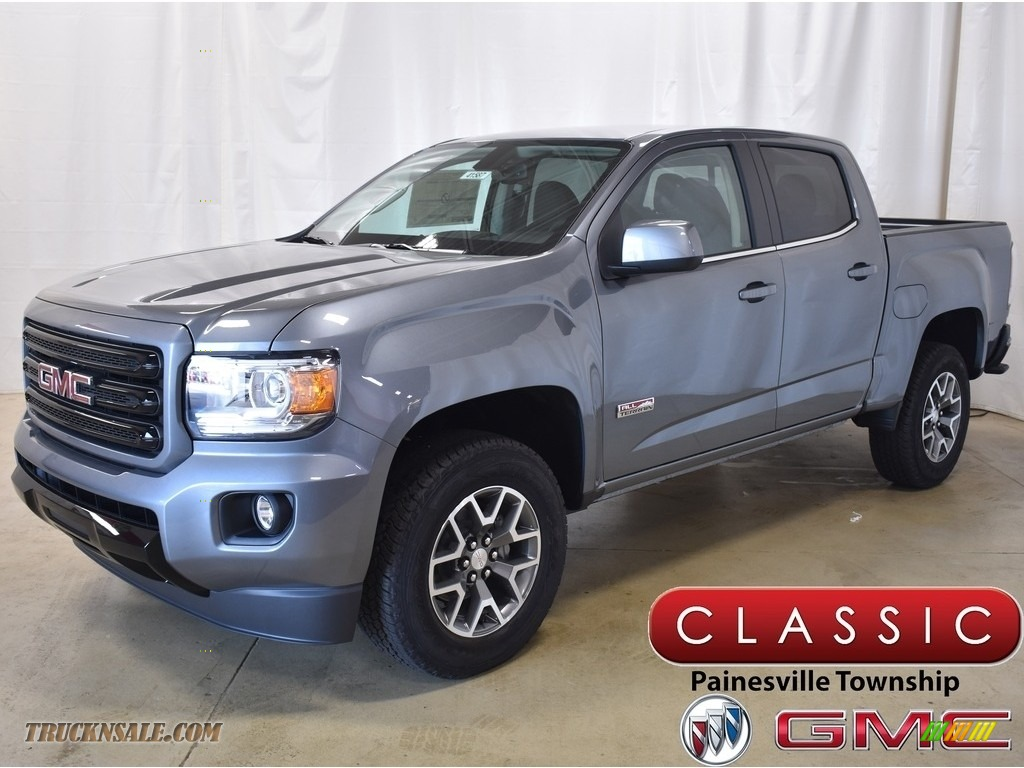 Satin Steel Metallic / Jet Black/­Cobalt Red GMC Canyon All Terrain Crew Cab 4WD