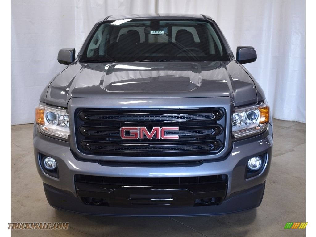 2019 Canyon All Terrain Crew Cab 4WD - Satin Steel Metallic / Jet Black/­Cobalt Red photo #4