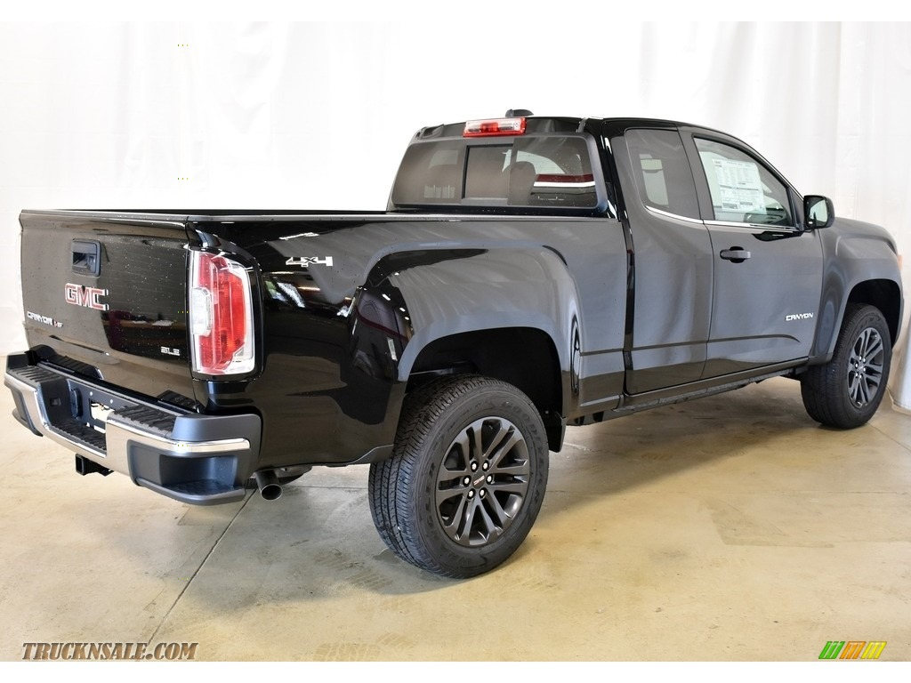 2019 Canyon SLE Extended Cab 4WD - Onyx Black / Jet Black photo #2