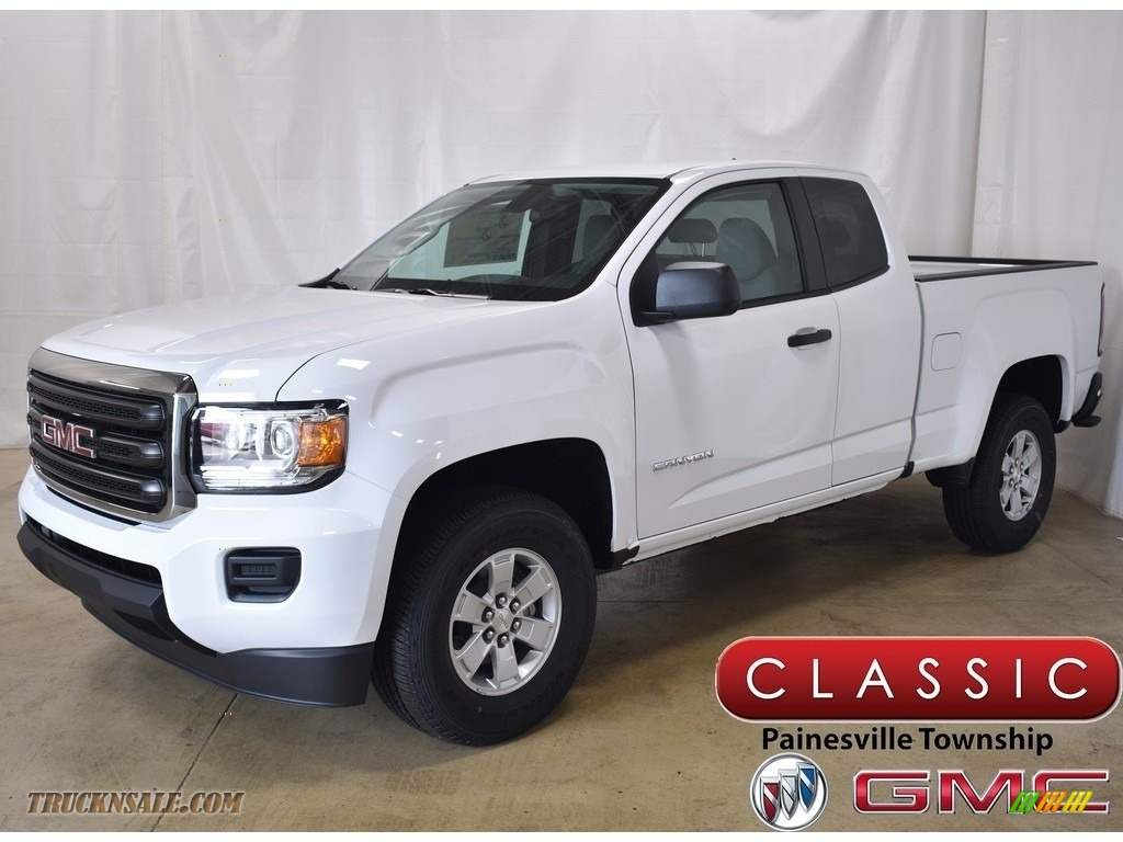 Summit White / Jet Black/­Dark Ash GMC Canyon Extended Cab