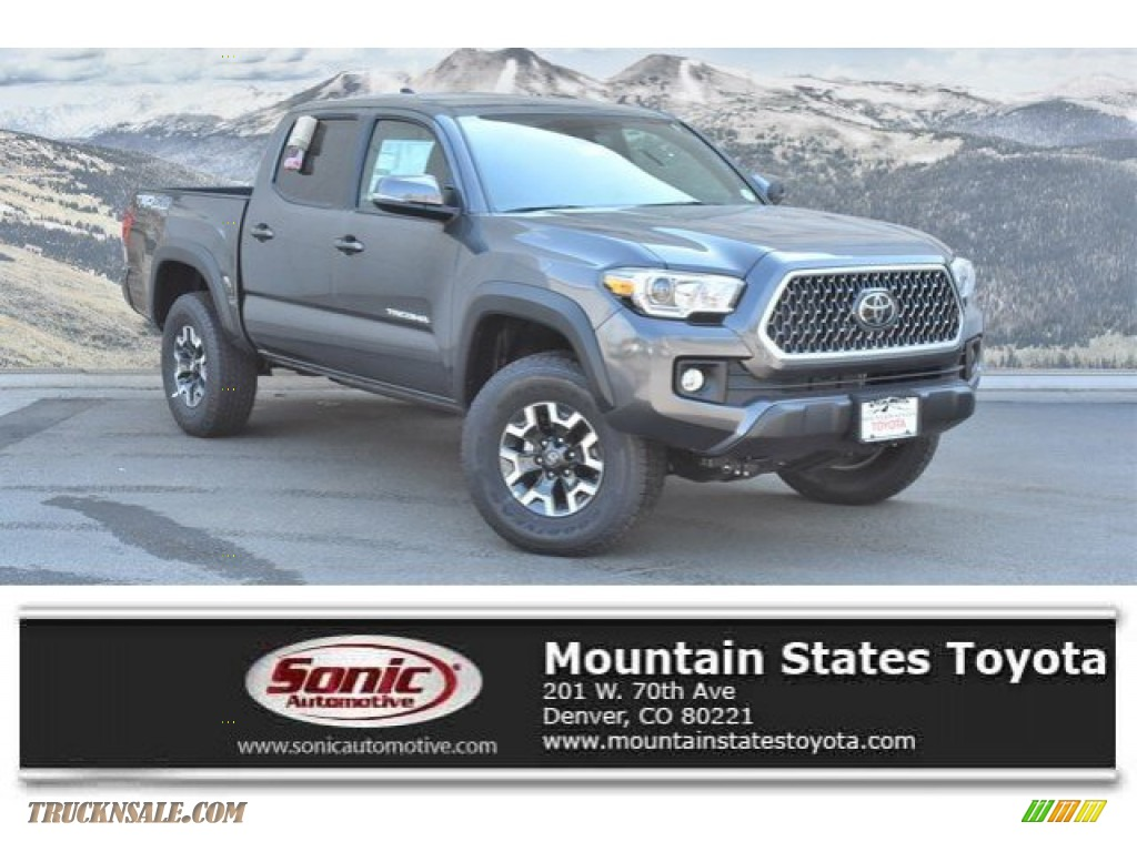 2019 Tacoma TRD Off-Road Double Cab 4x4 - Magnetic Gray Metallic / Cement Gray photo #1